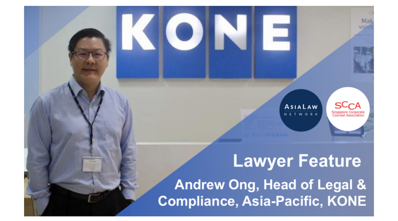 Lawyers in Business: Andrew Ong, Head of Legal and Compliance Asia-Pacific, KONE (from Asia Law Network)