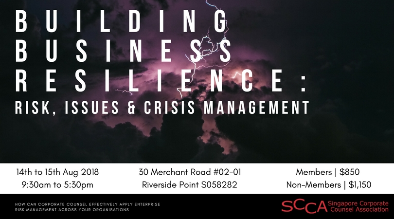 Building Business Resilience: Risk, Issues & Crisis Management