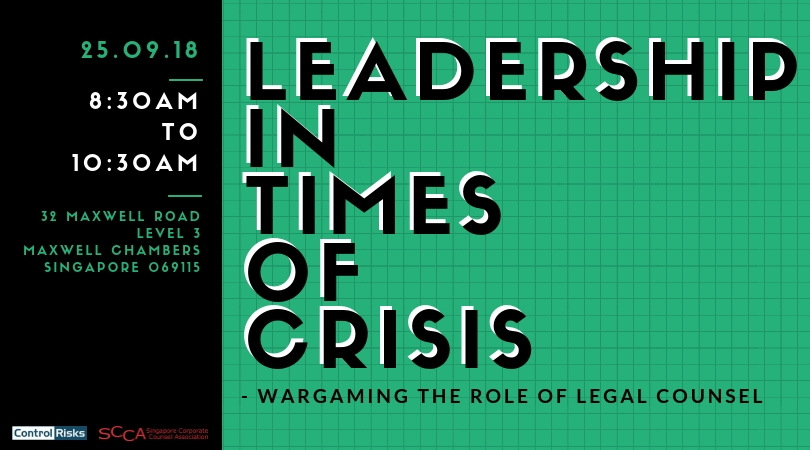 LEADERSHIP IN TIMES OF CRISIS - WARGAMING THE ROLE OF LEGAL COUNSEL