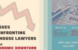 WEBINAR: Issues Confronting In-house Lawyers in an Economic Downturn