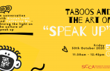"Taboos and the art of ""Speak Up"""