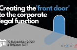 Creating the 'front door' to the corporate legal function