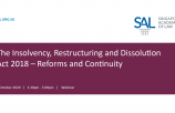 The Insolvency, Restructuring and Dissolution Act 2018 – Reforms and Continuity