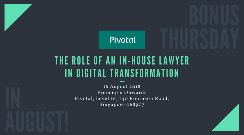 BONUS THURSDAY IN AUGUST: THE ROLE OF AN IN-HOUSE LAWYER IN DIGITAL TRANSFORMATION
