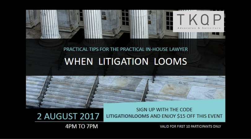 When Litigation Looms - Practical Tips for In-House Lawyers