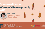 Conversation on Women's Development, with Minister of State Sun Xue Ling
