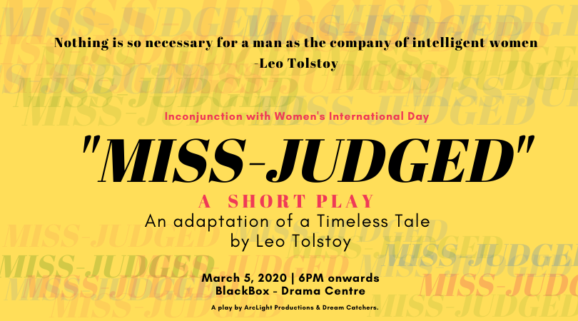 *POSTPONED INDEFINITELY* Miss Judged - A Theatrical Play