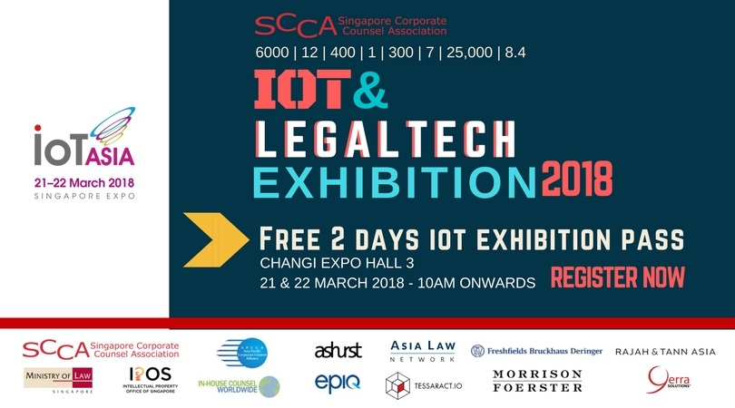 FREE IOT & LEGAL-TECH EXHIBITION PASS FOR 2 DAYS