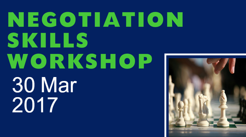 Negotiation Skills Workshop - ** Note : Not for practicing lawyers**